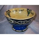 OLD SCOTTISH POTTERY  BOWL HAND PAINTED BY  HILDA BURNE