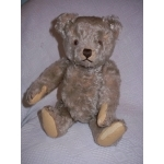 "STEIFF 14.5""  TEDDY BEAR  -  1950'S NICKEL BUTTON"