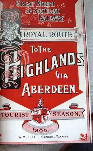 OLD GREAT NORTH OF SCOTLAND RAILWAY TOURIST PROGRAMMES BOOK & GOLF INTEREST 1905