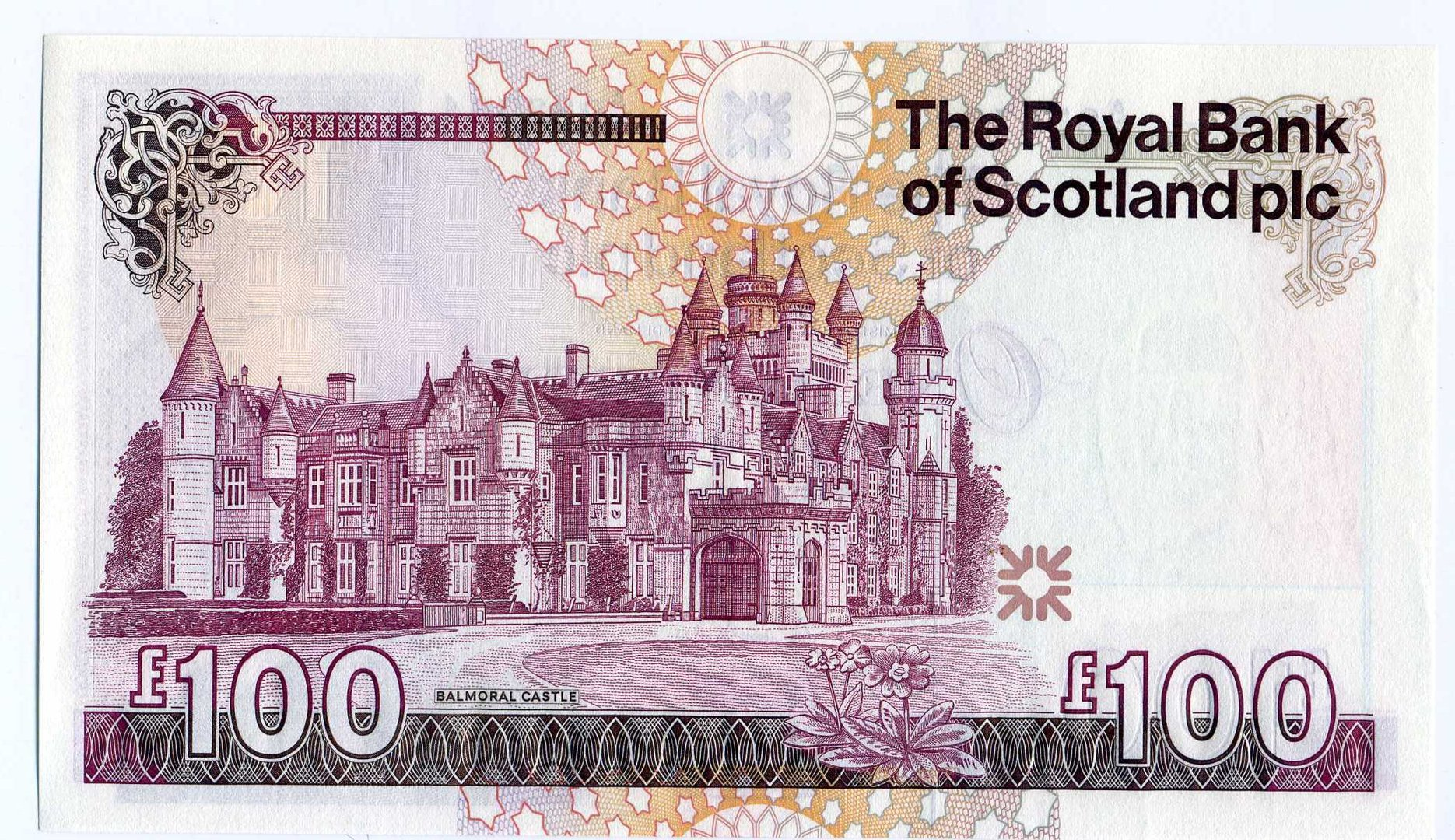 royal bank of scotland 163100 one hundred pound note aunc