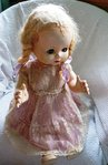 "VINTAGE 1950'S HARD PLASTIC WALKING FLIRTY EYED  DOLL  MADE IN NEW ZEALAND BY PEDIGREE  20"" HIGH"